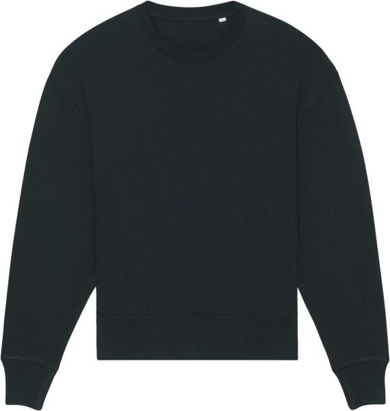 Oversized Unisex Sweatshirt aus Bio-Baumwolle - black