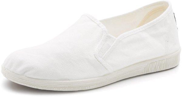 Cangrejo Elasticos - Slipper aus Bio-Baumwolle - blanco