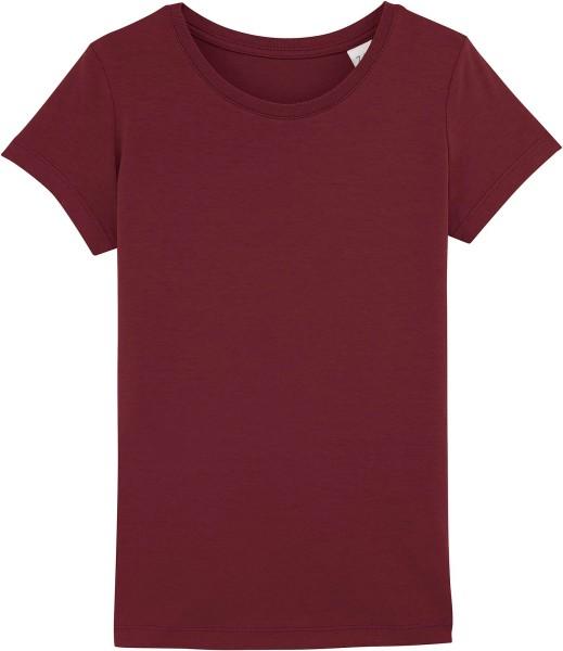 Kinder T-Shirt aus Bio-Baumwolle - burgundy