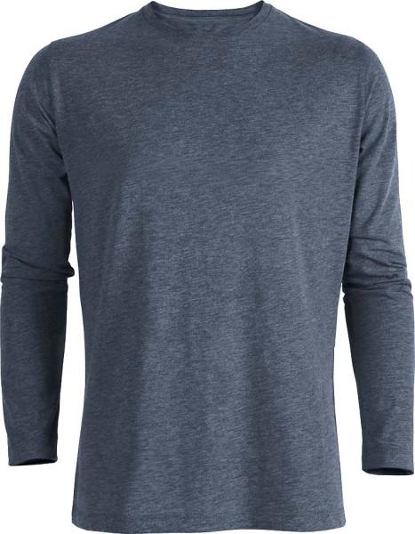 Shuffles - Langarmshirt aus Bio-Baumwolle - blau meliert