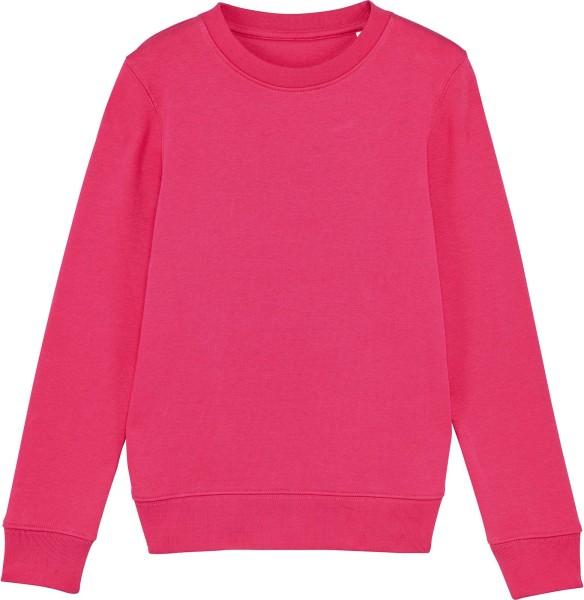 Kinder Sweatshirt aus Bio-Baumwolle - raspberry