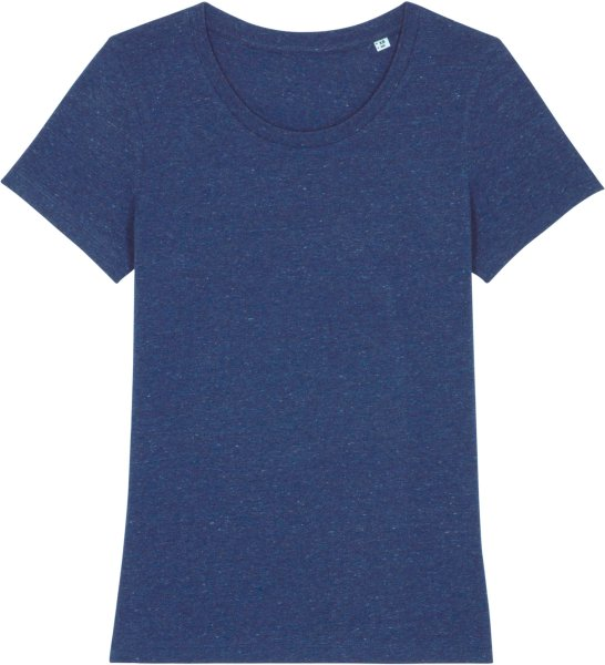 T-Shirt aus Bio-Baumwolle - heather snow mid blue