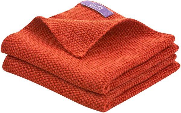 Spültücher aus Bio-Baumwolle - Doppelpack - red clay