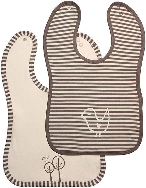 Baby Lätzchen aus Biobaumwolle - 2er-Set uni/gestreift - Bild 1