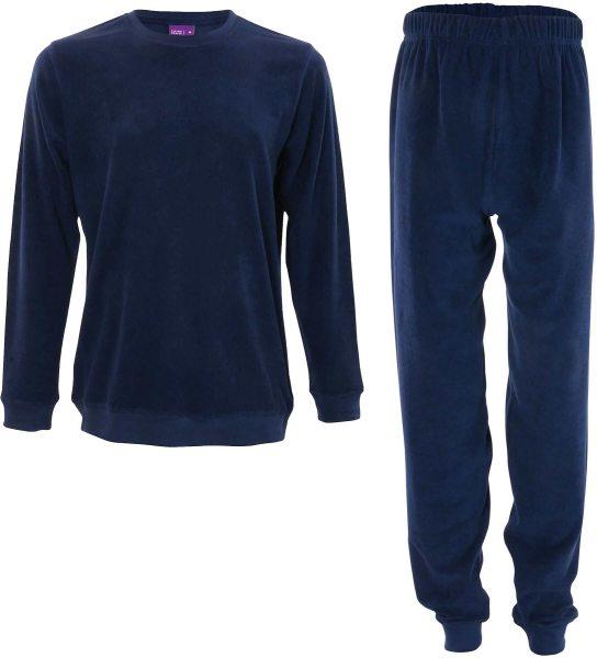 Herren Frottee-Pyjama -  Biobaumwolle - dark navy - Bild 1