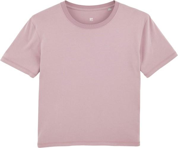 Kastenförmiges T-Shirt aus Bio-Baumwolle - lilac peak