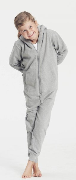 Kinder Organic Jumpsuit Fairtrade grau meliert - Bild 1