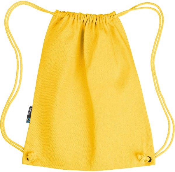 Gym Bag aus Fairtrade Bio-Baumwolle - yellow
