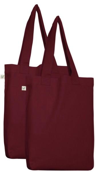 Bio-Tasche Doppelpack - burgundy