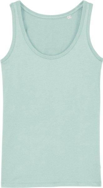 Tank-Top aus Bio-Baumwolle - caribbean blue