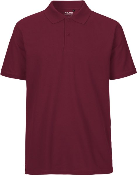 Polo Shirt bordeaux Fairtrade - NE20080
