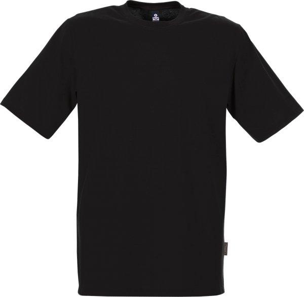 Klassisches T-Shirt aus Baumwolle - schwarz