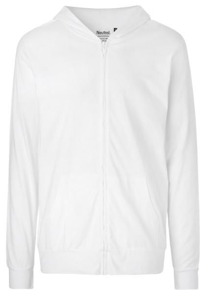 Jersey Zip-Jacke weiss Biobaumwolle - O62301