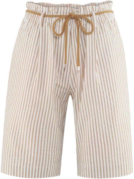 Bermuda-Shorts aus Bio-Baumwolle - tobacco/white