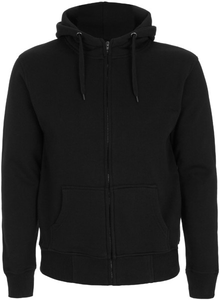 Herren Zip-Up Hoodie High Neck schwarz