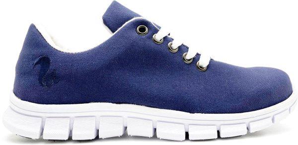 Eco Cotton Runner - Canvas Sneaker aus Bio-Baumwolle - marino
