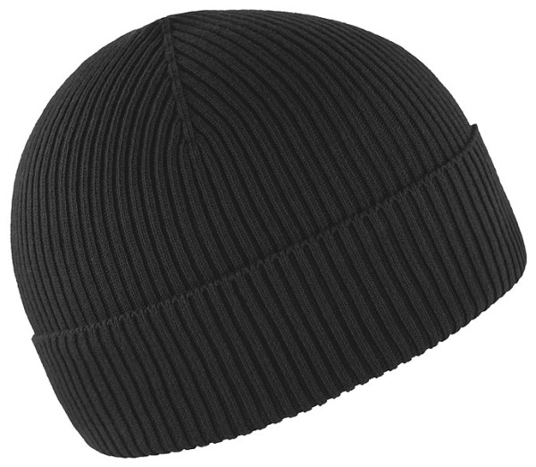 Strickmütze aus Bio-Baumwolle - Made in Germany - schwarz - Bild 1