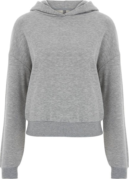 Cropped Hoodie - light heather