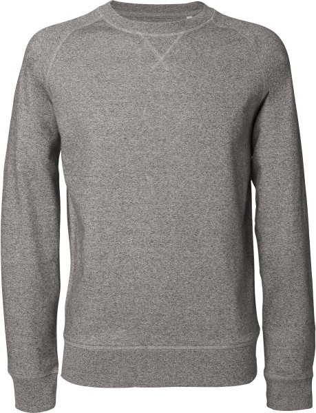 Sweatshirt aus Bio-Baumwolle - heather stone