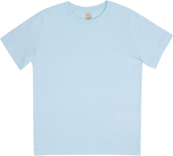 Kinder T-Shirt aus Bio-Baumwolle - hellblau