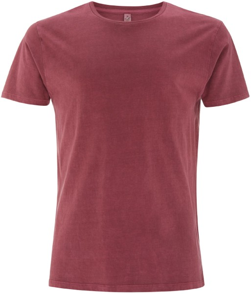 Herren T-Shirt Gament Dyed dusky red