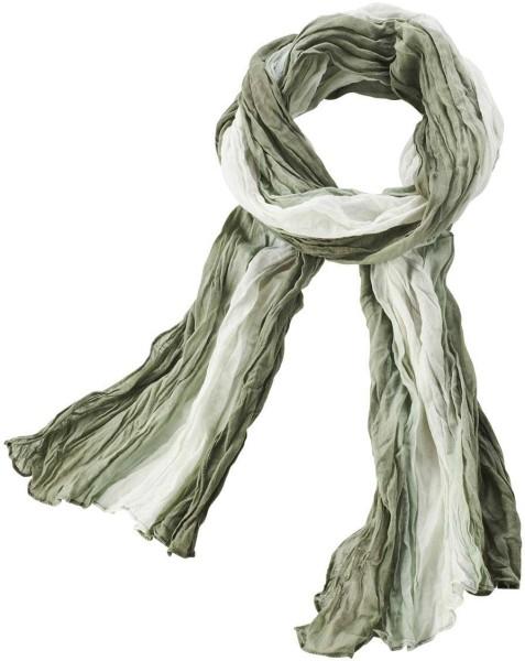 Leichter Schal aus Bio-Baumwolle - olive - Bild 1