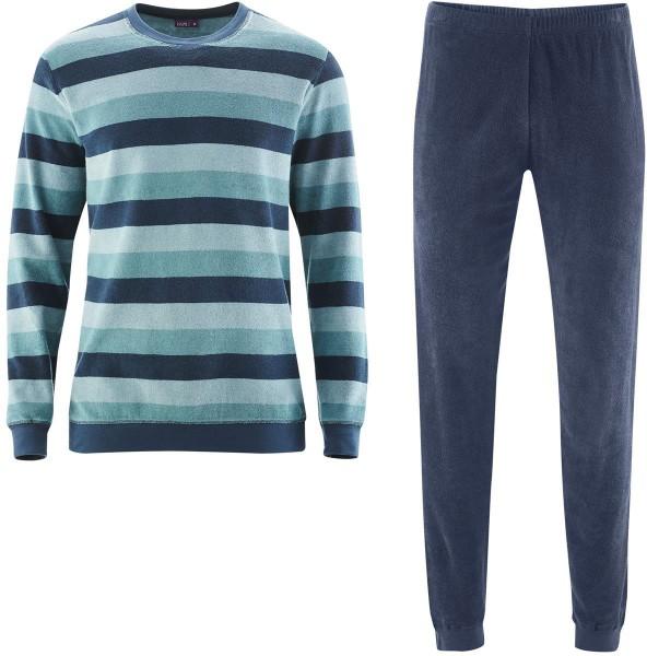 Herren Frottee-Pyjama - Biobaumwolle - mineral green - Bild 1