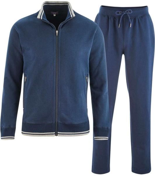 Relax-Anzug aus Bio-Baumwolle - navy blue