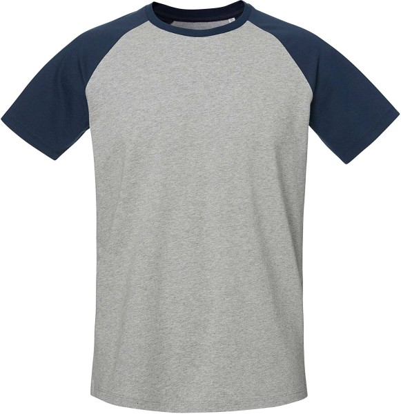 Baseball Short Sleeve - T-Shirt aus Bio-Baumwolle - h. grey/navy - Bild 1