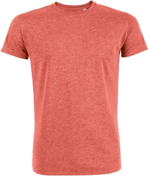 Leads - T-Shirt aus Bio-Baumwolle - rot-meliert