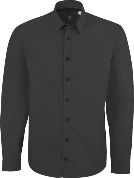 Impresses - Hemd aus Biobaumwolle - ebony (dunkelgrau)