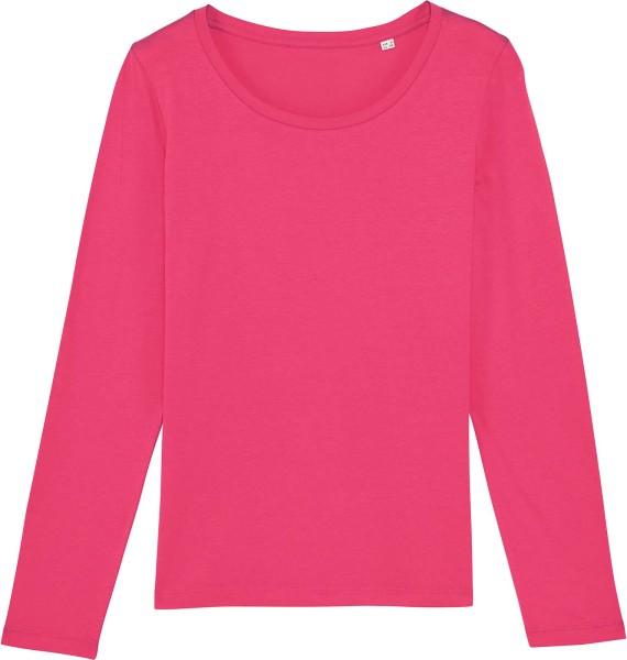 Longsleeve aus Bio-Baumwolle - pink punch