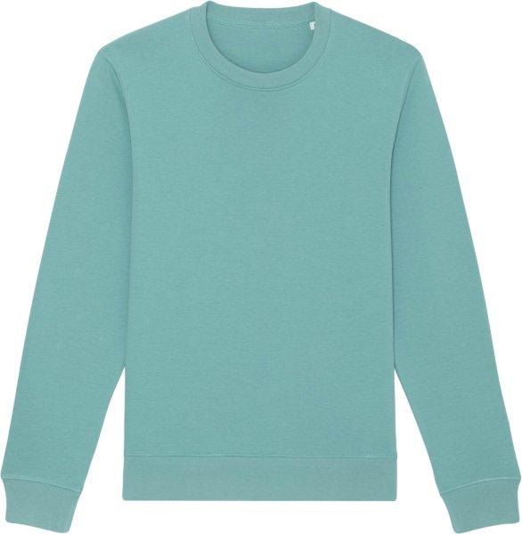 Unisex Sweatshirt aus Bio-Baumwolle - teal monstera
