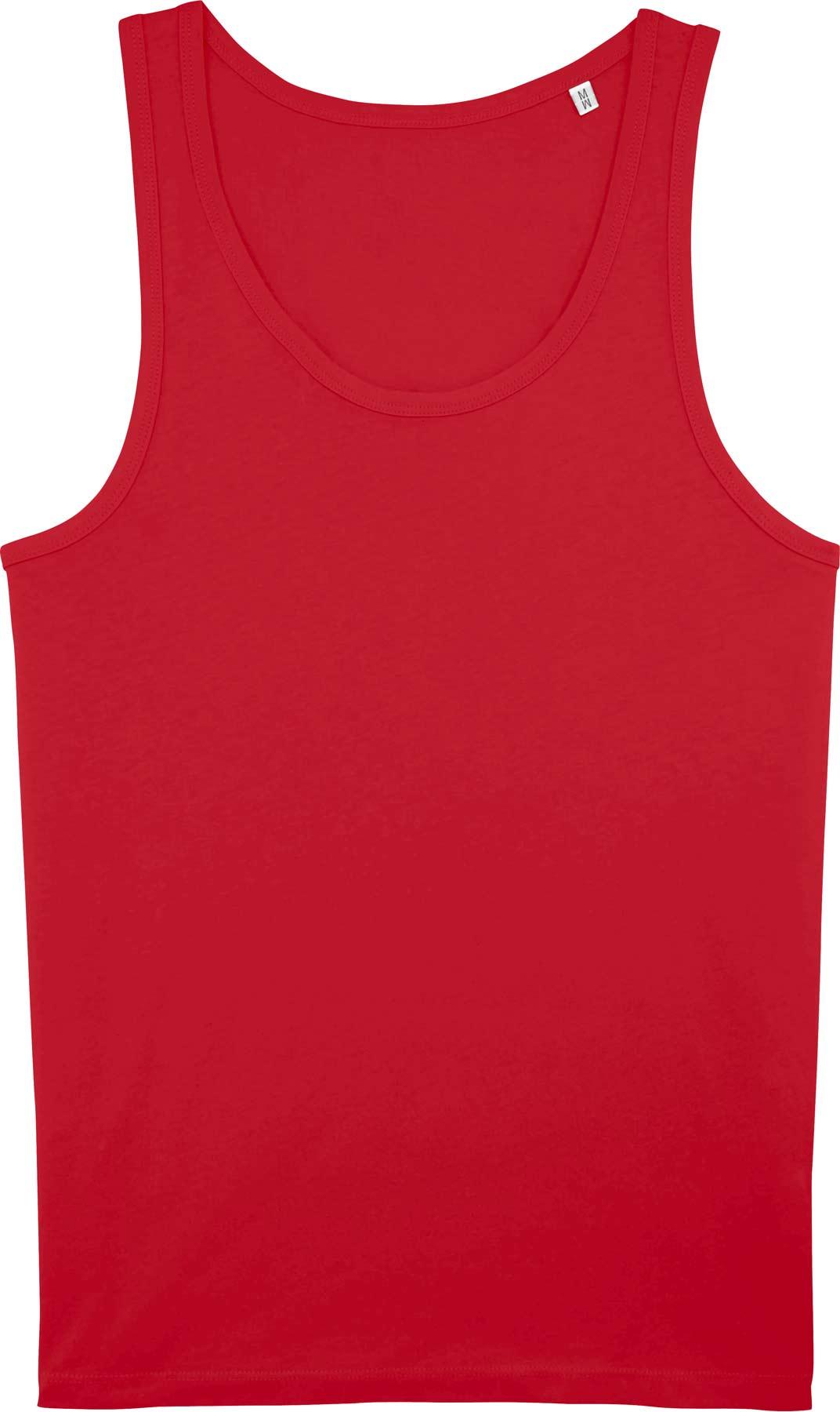 rotes herren tank top aus baumwolle unterhemd rot. Black Bedroom Furniture Sets. Home Design Ideas