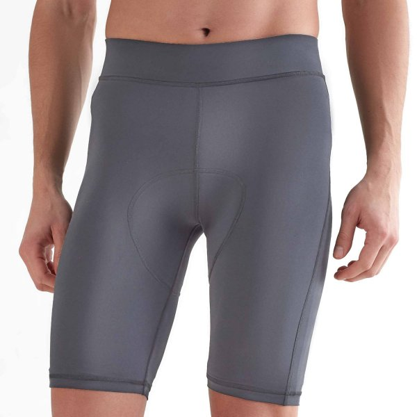 Biker Shorts aus Recycle-Polyester - anthracite