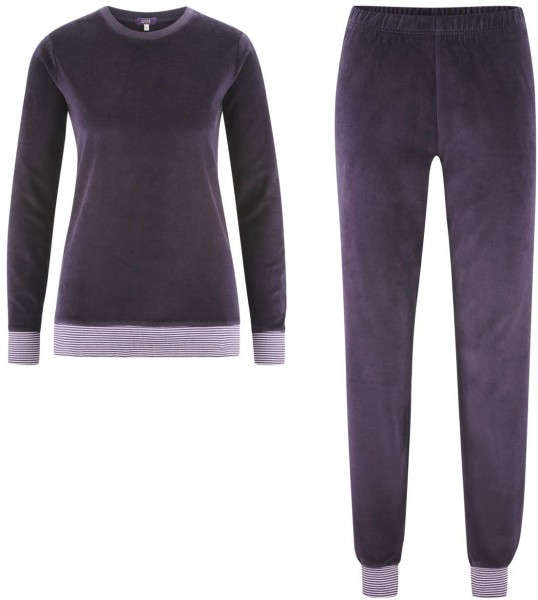 Nicki Schlafanzug aus Bio-Baumwolle - plum