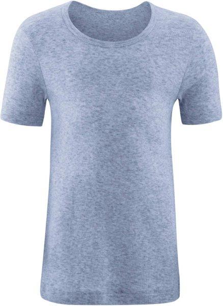 Kinder T-Shirt aus Bio-Baumwolle - blue melange