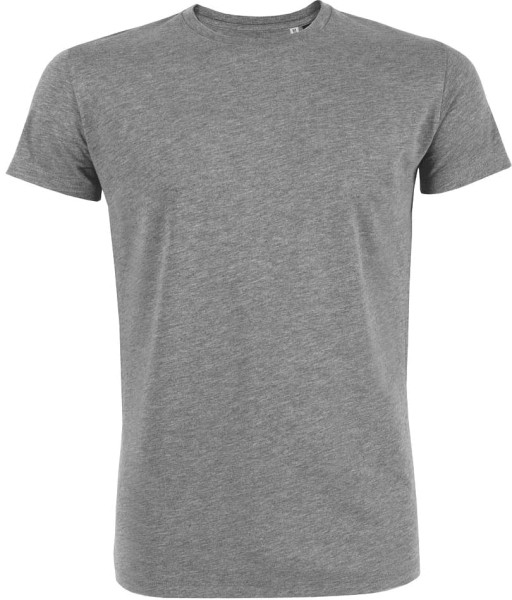 Leads - Kurzarmshirt aus Bio-Baumwolle - mid heather grey