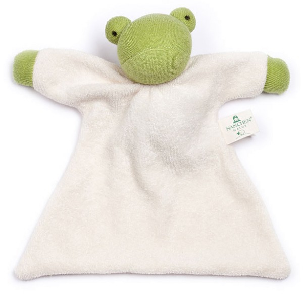 Nuckeltier Frosch Schmusepuppe/Tuch aus Bio-Baumwolle - Bild 1