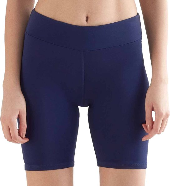 Biker Shorts aus Recycle-Polyester - navy