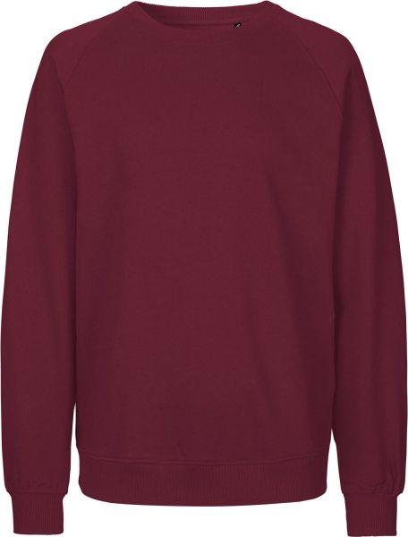 Sweatshirt aus Fairtrade Bio-Baumwolle - bordeaux