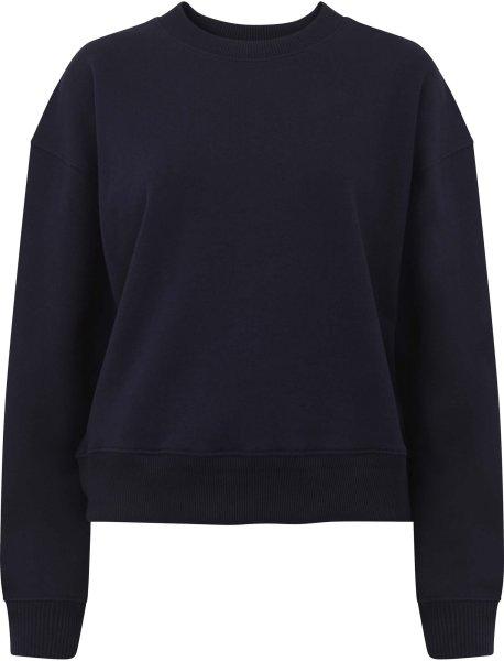 Schweres Sweatshirt aus Biobaumwolle - navy