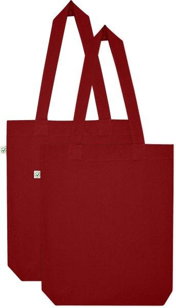 Doppelpack vegane Fair-Trade Stofftasche