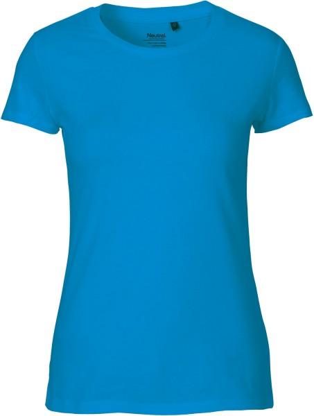 Fitted T-Shirt aus Fairtrade Bio-Baumwolle - sapphire