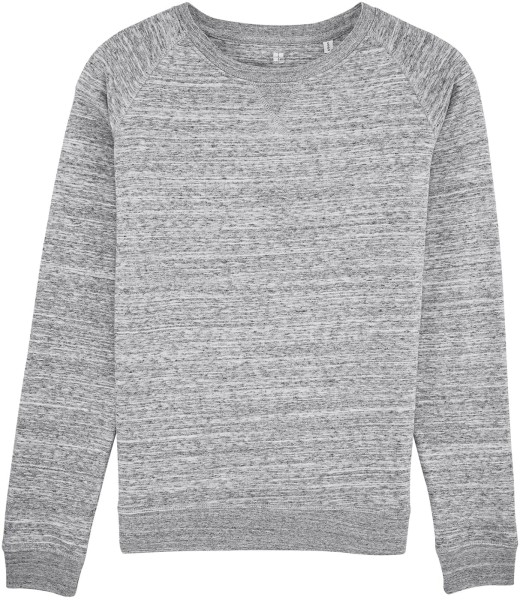 Sweatshirt Bio-Baumwolle - slub heather grey
