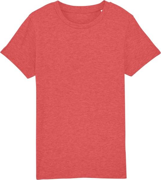Kinder T-Shirt aus Bio-Baumwolle - rot meliert