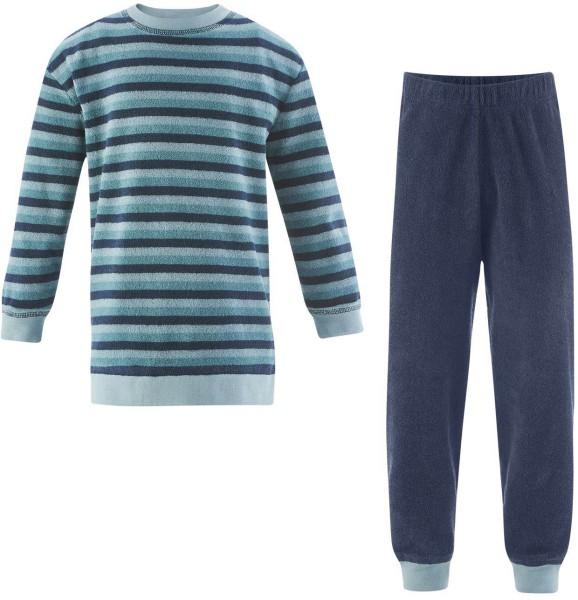 Kinder Frottee-Schlafanzug - Biobaumwolle mineral green - Bild 1