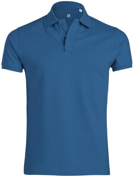 Performs - Piqué-Poloshirt aus Bio-Baumwolle - blau