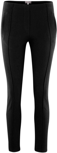 Jersey-Hose mit Biesen aus Bio-Baumwolle - black
