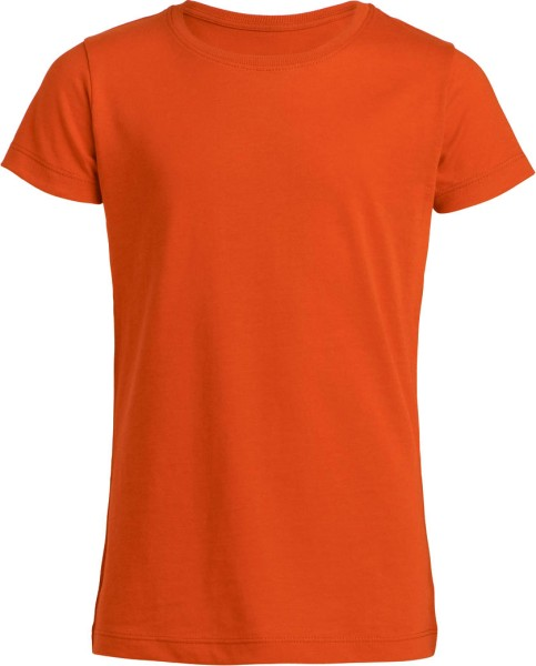 Mini Draws T-Shirt Mädchen bio orange